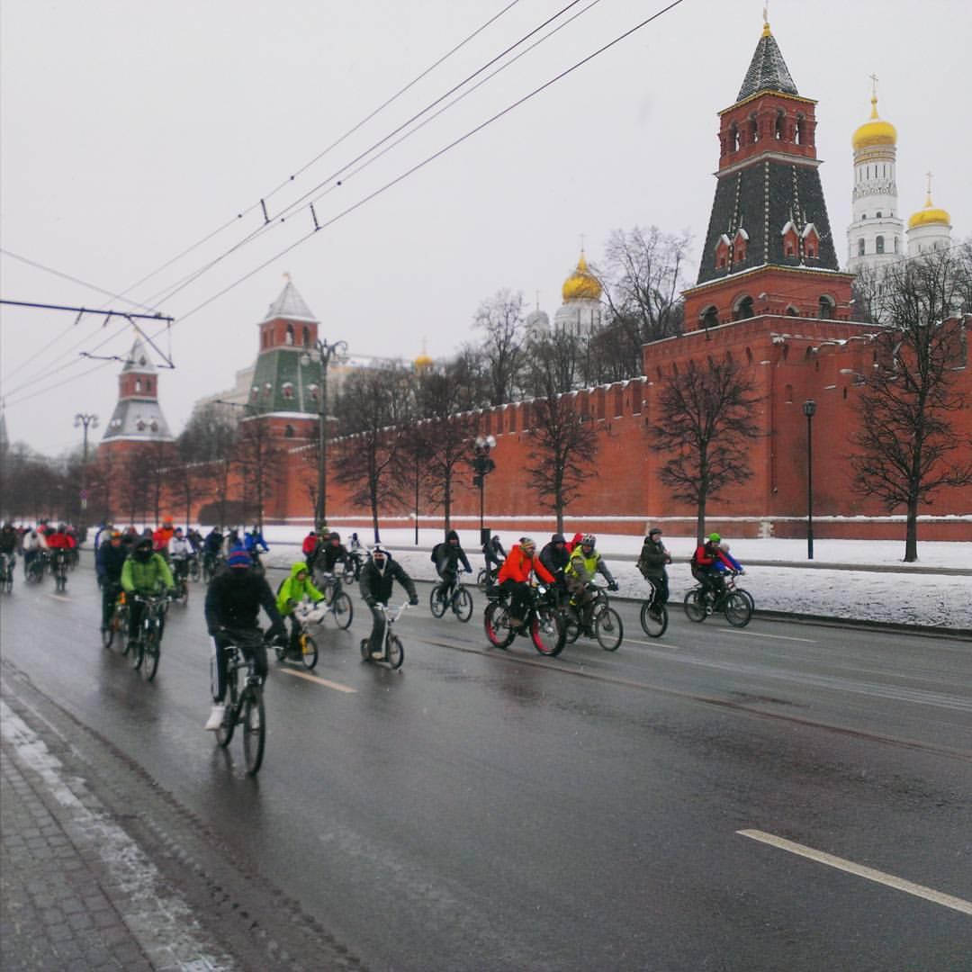Зимний велопарад 2016