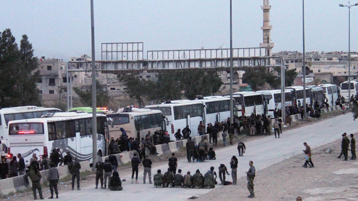 эвакуация боевиков