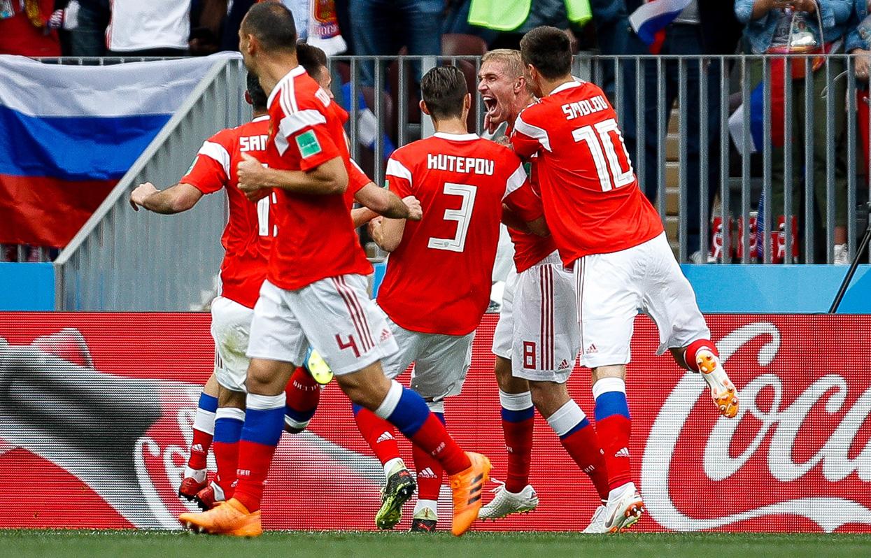 14 июня 2018 года. Россия - Саудовская Аравия - 5:0. Фото: globallookpress.com