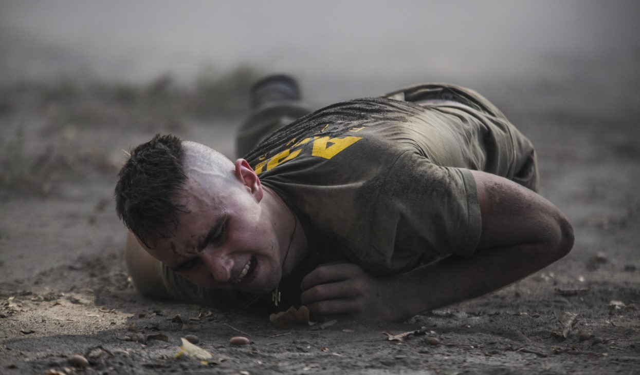 Украина, Киев, тренировка бойца ВСУ. Фото: www.globallookpress.com