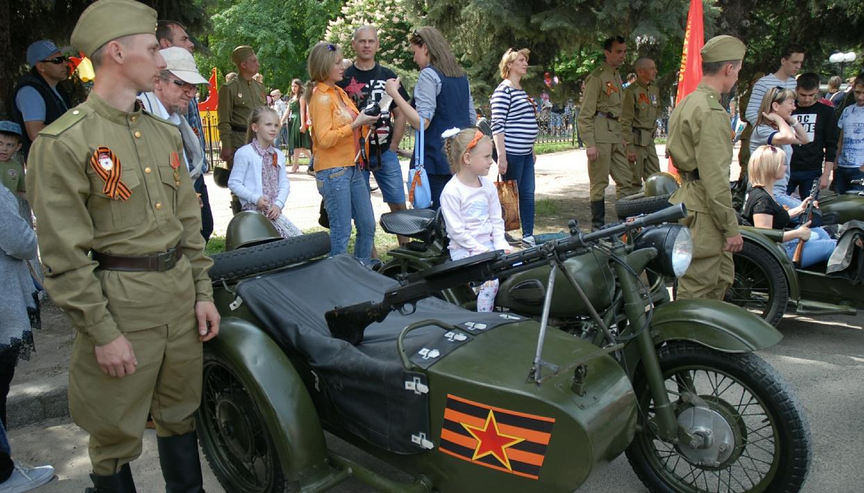 В Луганске в этом году на праздновании 9 мая. Фото: www.globallookpress.com