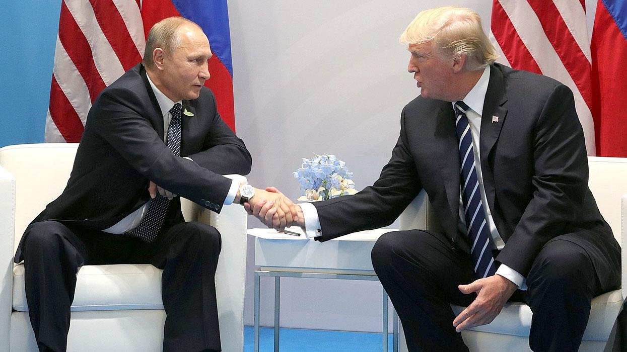 встреча Трамп - Путин