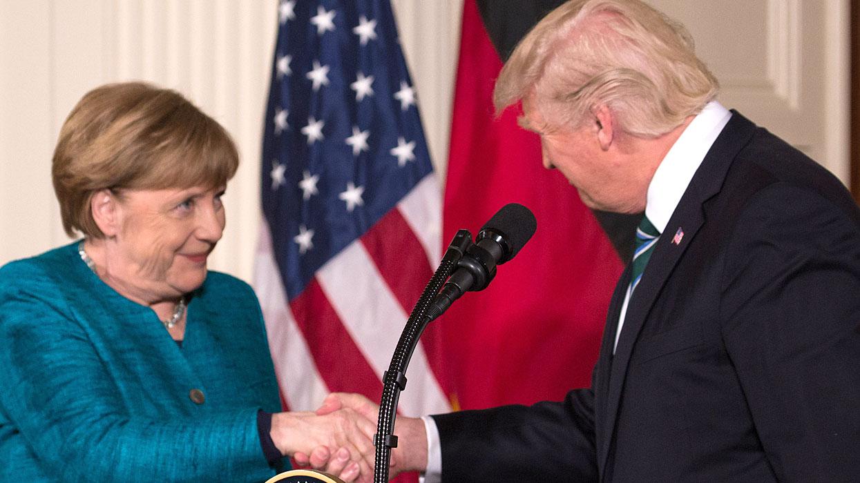 Меркель - Трамп