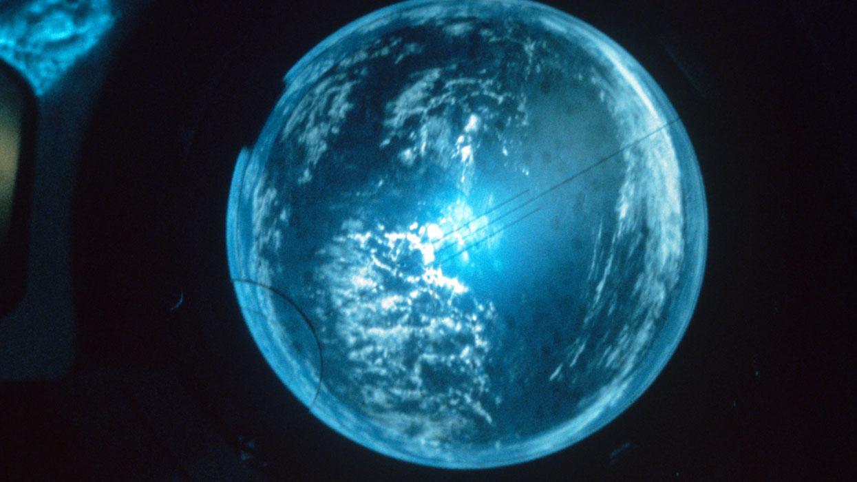 Вид на Землю с борта космической станции «Салют».