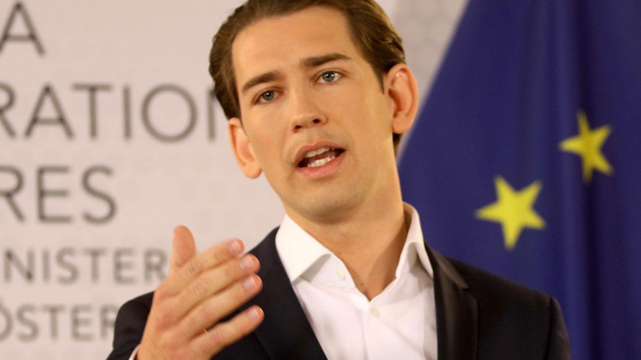 Глава МИД Австрии Себастьян Курц выступил на пресс-конференции в Вене