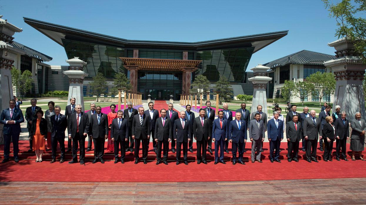 Китай. Пекин. 15 мая 2017. Участники международного экономического форума