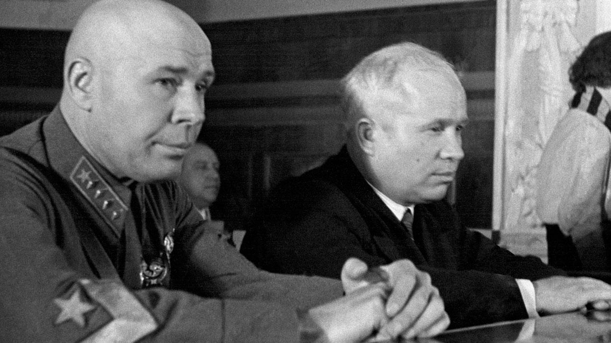Хрущев и Тимошенко