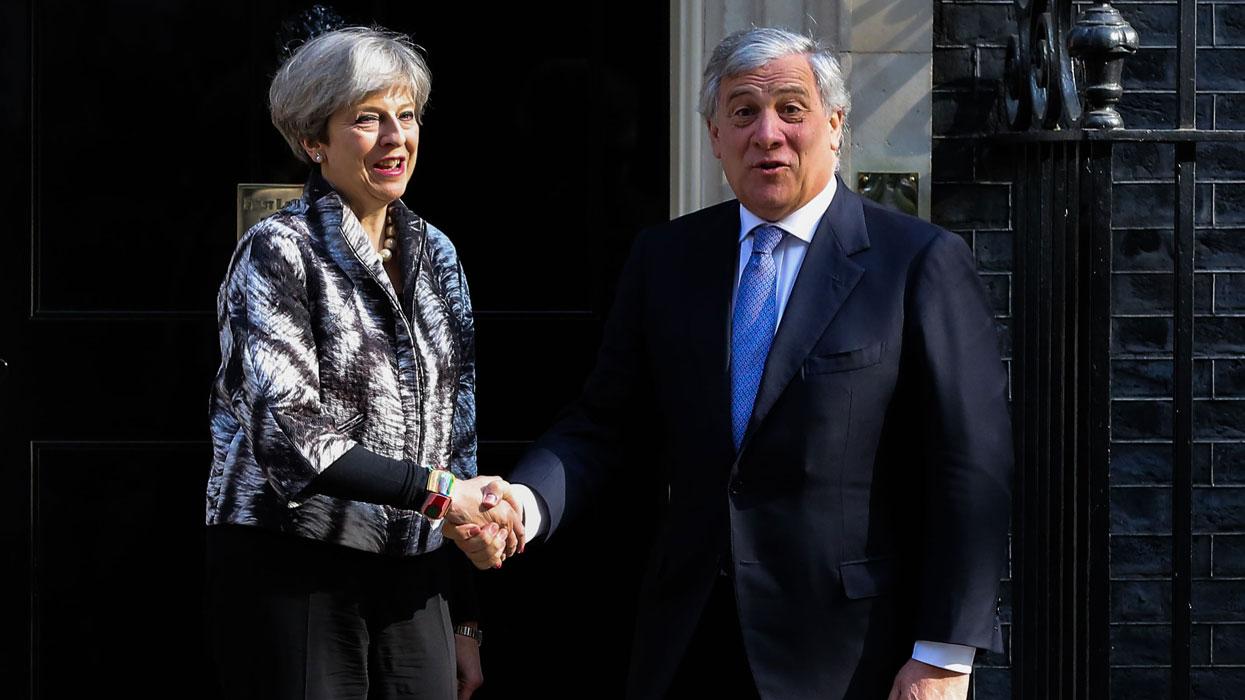 Визит председателя Европарламента Антонио Таяни в Великобританию
