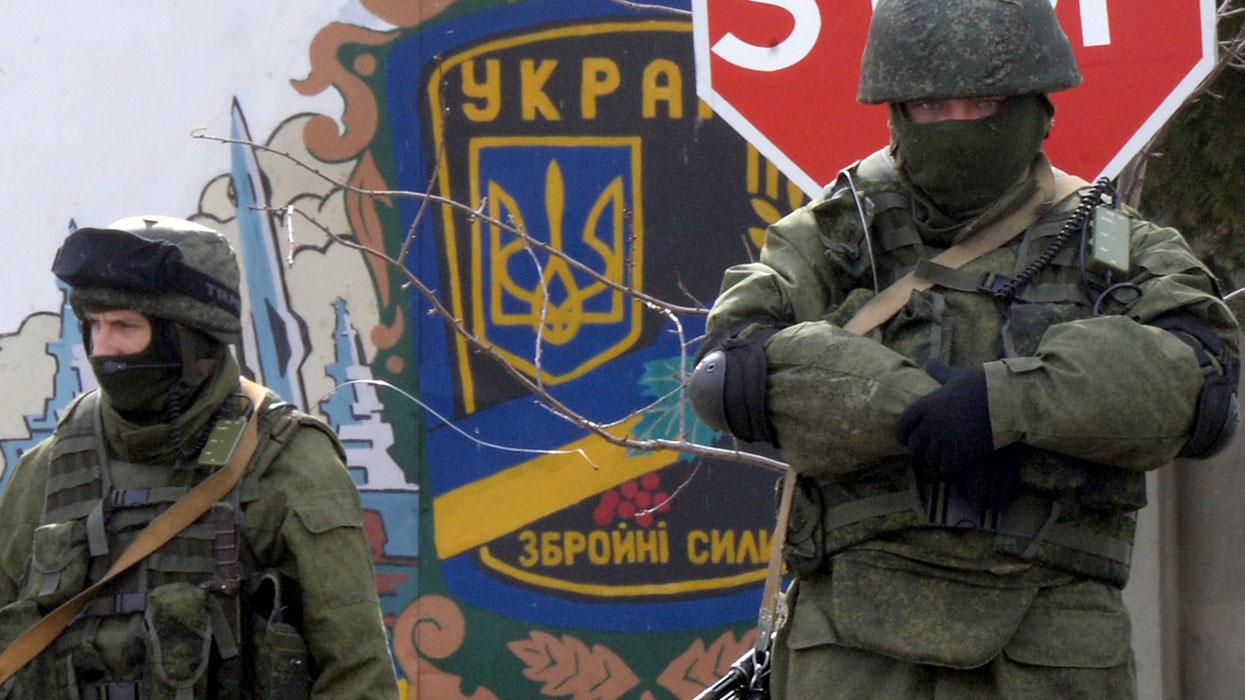 У КПП 36-й бригады береговых войск ВС Украины в селе Перевальное