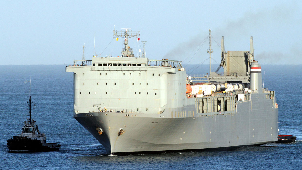 Американский корабль Cape Ra