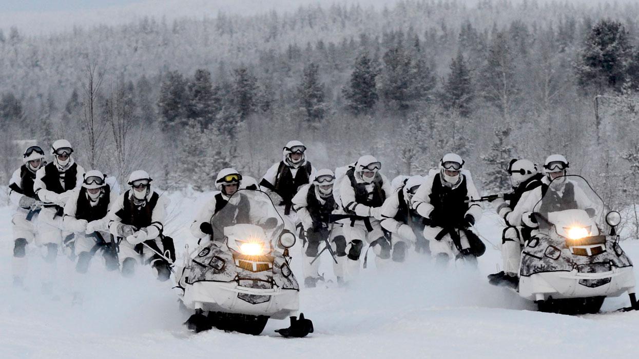 Учения 80-й отдельной арктической мотострелковой бригады Северного флота