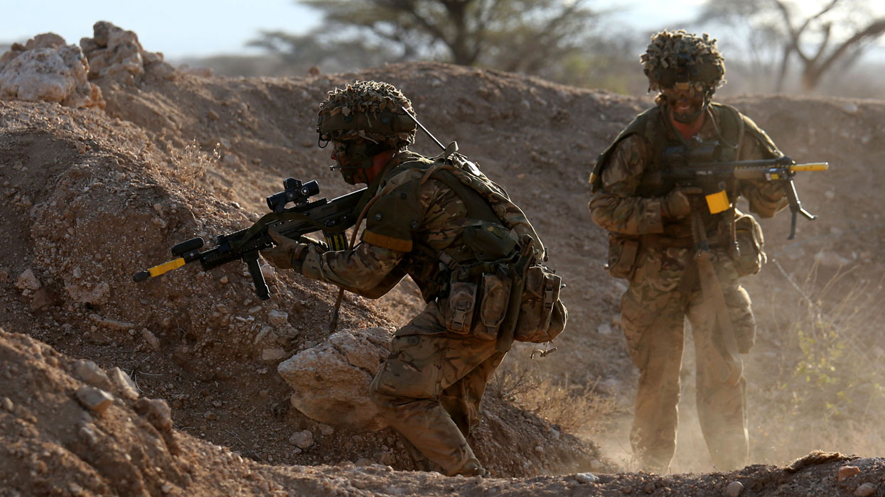 2-й батальон Королевского полка Шотландии на учениях