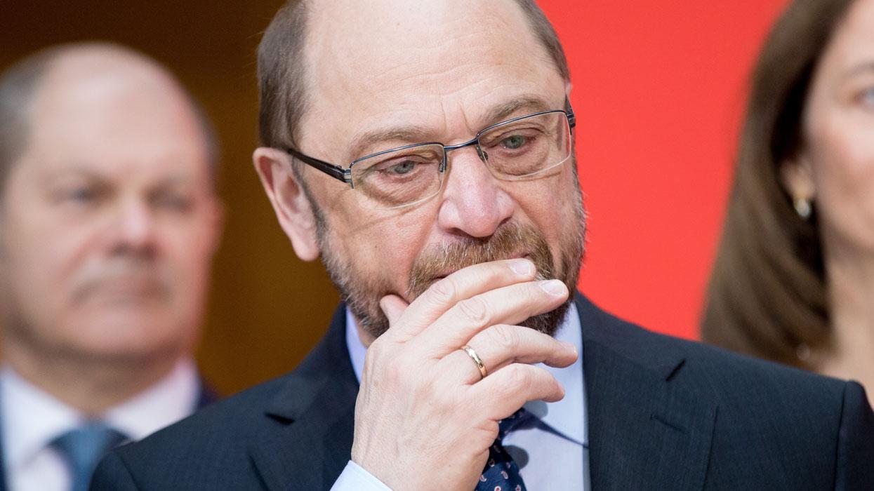 Кандидат на должность канцлера Германии от Социал-демократической партии Мартин Шульц