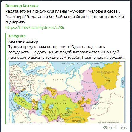 """""""Война неизбежна"""": Турция включила часть России в свои территории. Военкор Котенок показал карту"""