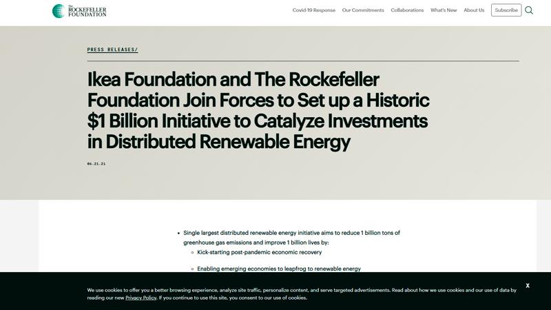 Скриншот страницы rockefellerfoundation.org