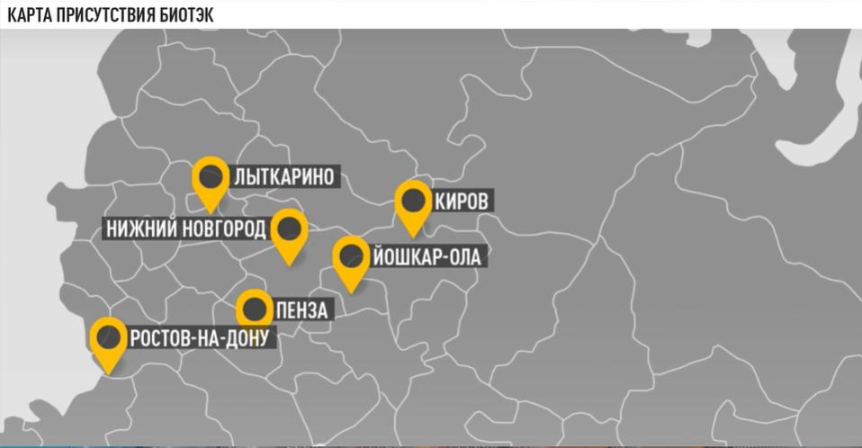 Карта присутствия Биотэк