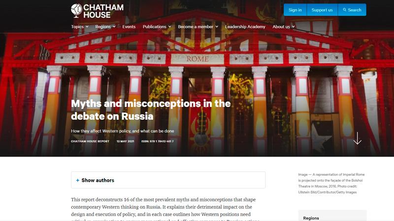 Скриншот страницы chathamhouse.org
