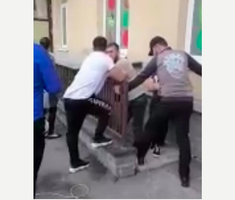 Скриншот с видео очевидцев