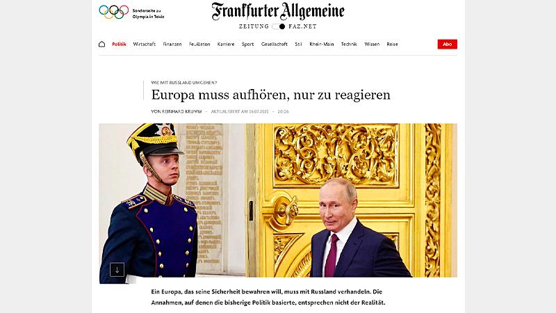 Скриншот страницы faz.net