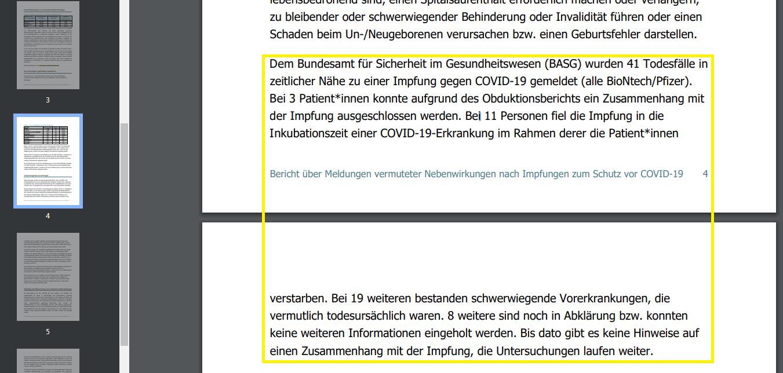 Скриншот четвёртой и пятой страниц доклада BASG
