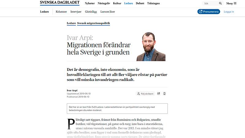 Скриншот страницы svd.se