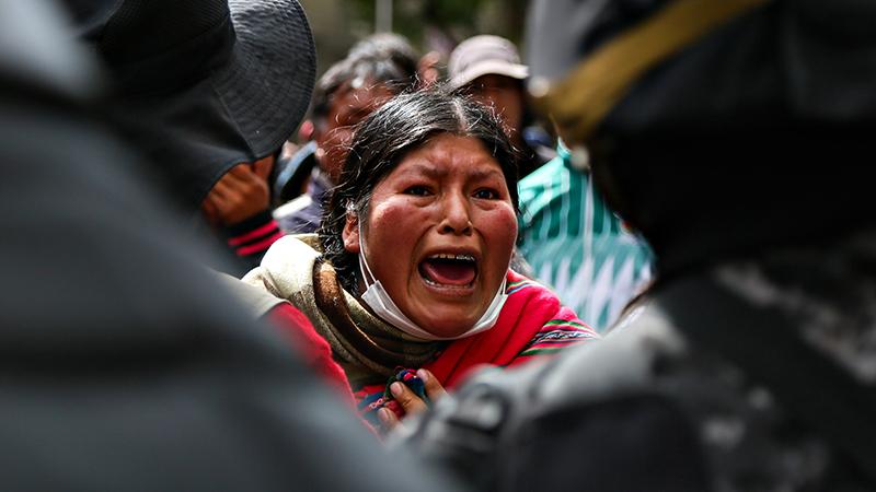 Протесты в Боливии