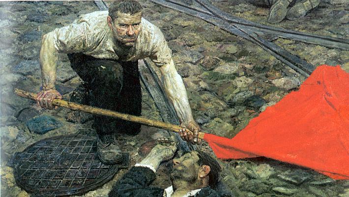 Гелий Коржев - Поднимающий знамя