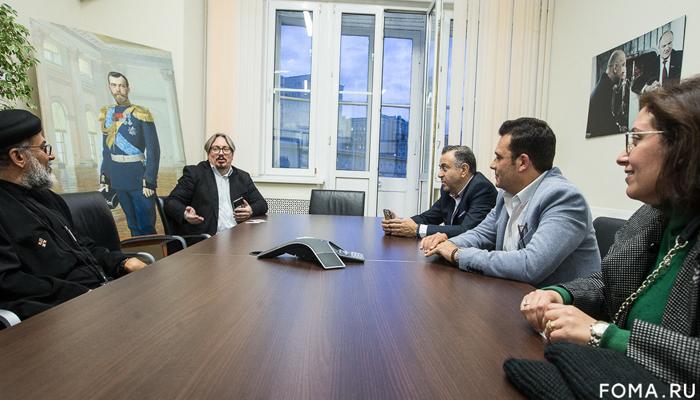 Христианский оазис Северной Африки: Представители Коптской Церкви посетили телеканал «Царьград»