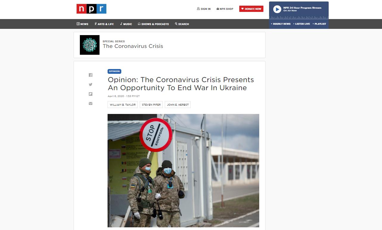 Дайджест СМИ: Отобрать Крым и не умереть от коронавируса