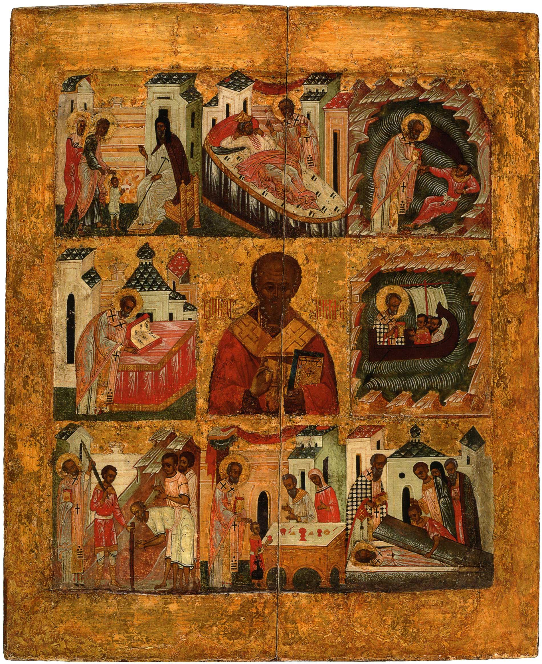 Николай Чудотворец - икона с житием