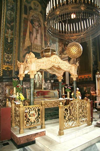 Мощи св. Варвары в Киеве