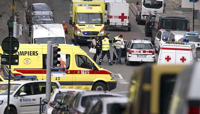 Скорые помощи заполонили улицы Брюсселя